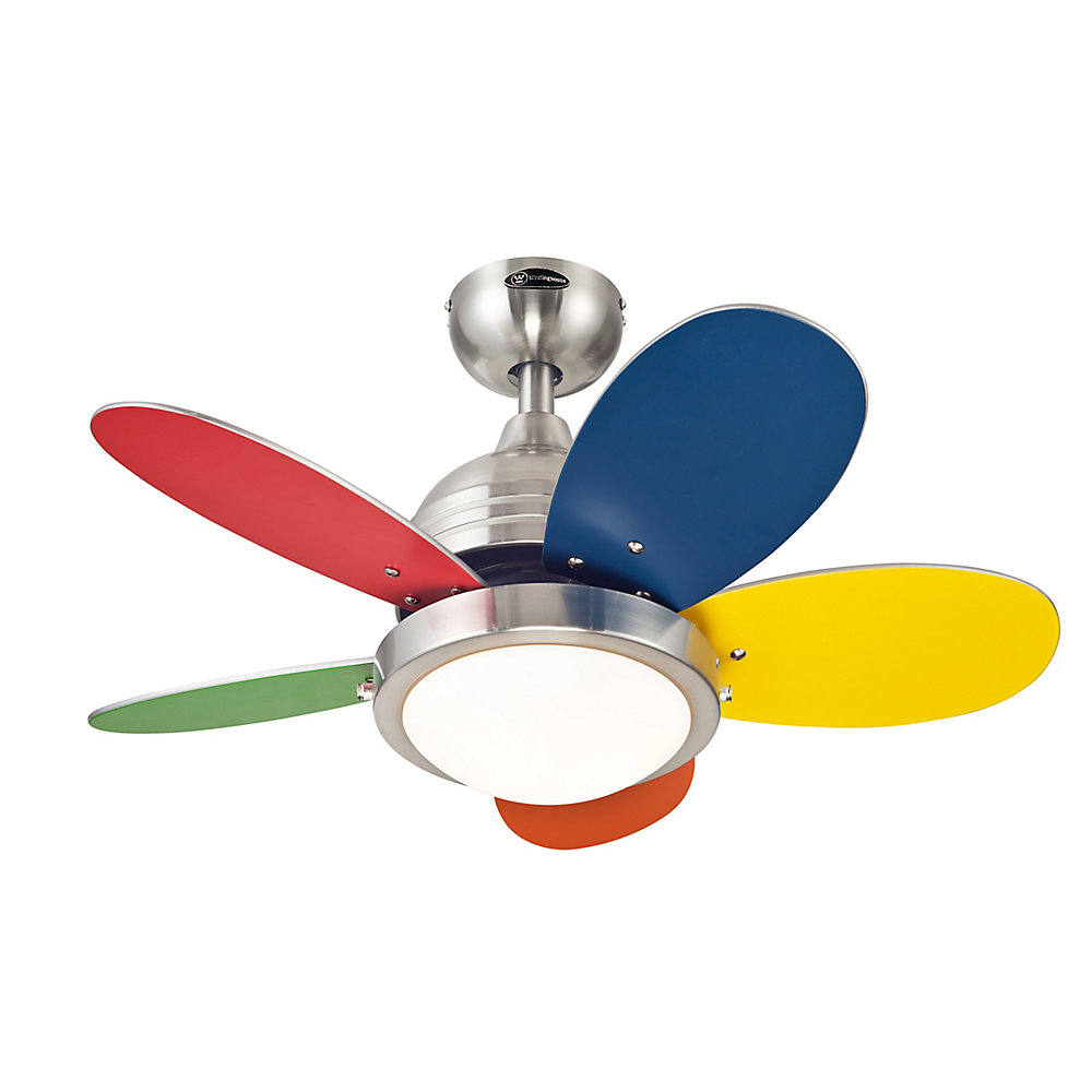 Roundabout 30-inch (76cm) LED Reversible 5-Blade Indoor Ceiling Fan in  Multicolour
