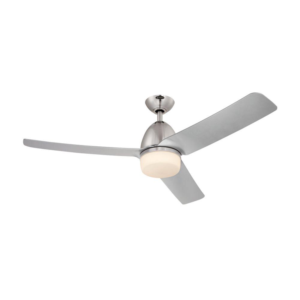 Hunter Clanton 52 Brushed Slate Ceiling Fan With Light: Hunter Hunter Sentinel 52 Inch Brushed Slate Ceiling Fan