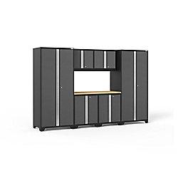 NewAge Products Inc. Armoire de garage en acier Pro 3.0 de couleur grise (7 pièces)