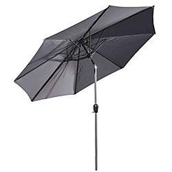 Velago 10 ft. Denia Patio Market Umbrella in Dark Grey
