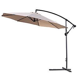 Velago Gandia 10 ft. Patio Cantilever Umbrella in Beige
