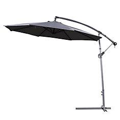 10 ft. Gandia Patio Cantilever Umbrella in Dark Grey