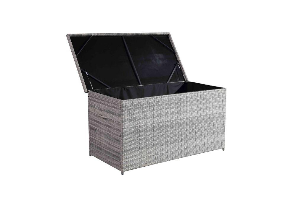 acheter pas cher d8dee c0ced Cassone Deck Box en osier gris pâle de 215 gallons