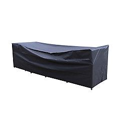 126 po x 35 po Table de patio avec couverture de chaises