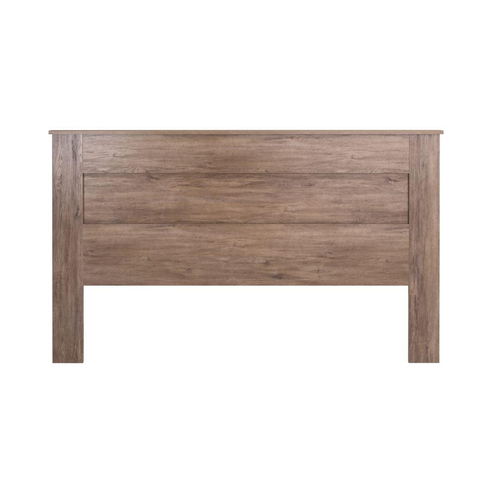 Prepac King Flat Panel Headboard-Drifted Gray