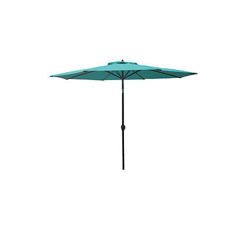 9 ft. Aluminum Market Umbrella in Porcelain Finish