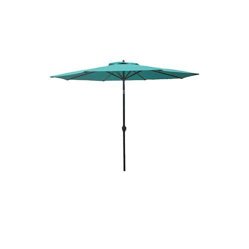 Hampton Bay 9 ft. Aluminum Market Umbrella in Porcelain Finish