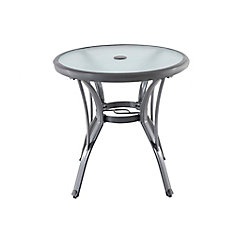 Commercial Grade Aluminum Grey Round Outdoor Patio Bistro Table