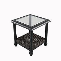 Camden Dark Brown Wicker Outdoor Patio Side Table