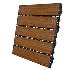 12 In. x 12 In. Deck and Balcony Tile - Honey Teak - (6 sq. ft./case)