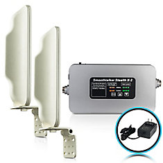 Stealth X2 60dB High Power Booster For Buildings With 2 High Gain Directional Antennas