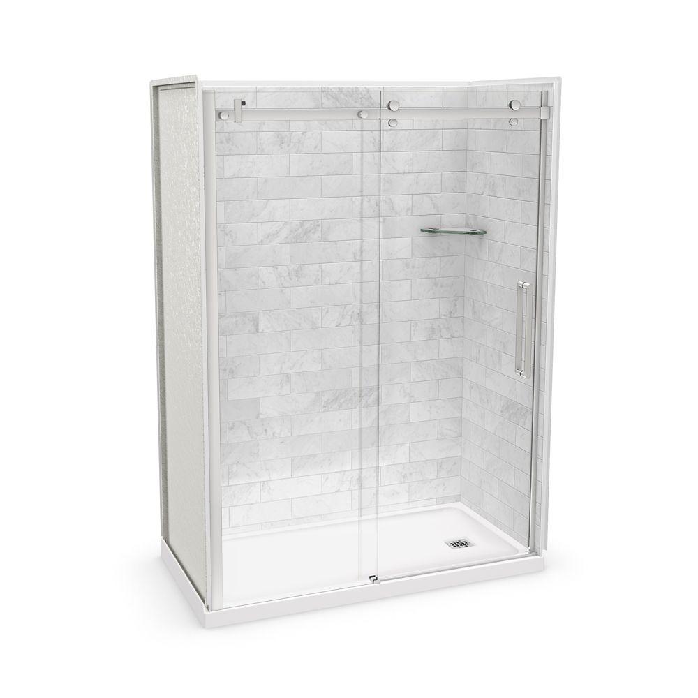 Maax Utile 60 Inch X 32 Inch X 84 Inch Marble Carrara