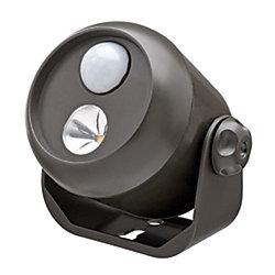 Mr. Beams Projecteur à LED avec détecteur de mouvement sans fil - Brun - 80 lumens polyvalent