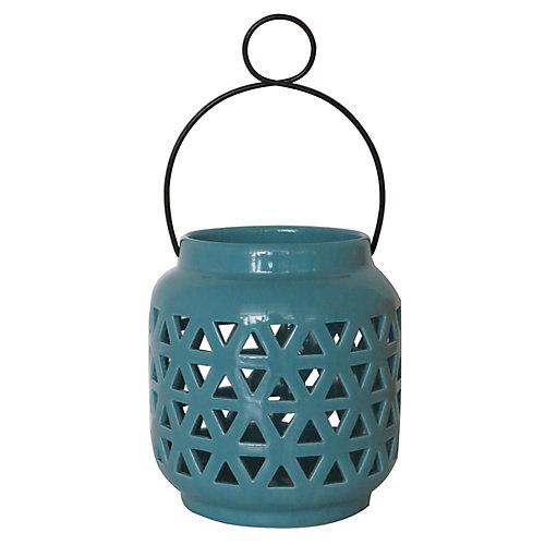 6.5 inch Ceramic Lantern-Porcelain Finish
