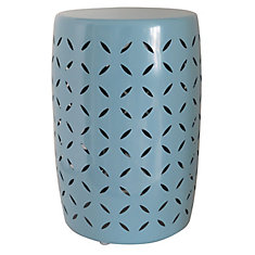 Metal Garden Stool-Porcelain Finish
