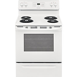 30-inch 5.3 cu. ft. Freestanding Electric Range with Self-Cleaning in White