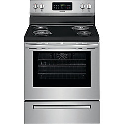 30-inch 5.4 cu. ft Freestanding Electric Range in Stainless Steel