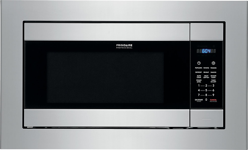 Frigidaire Professional 24 Inch W 2 Cu Ft Built In Microwave Smudge Proof Stainless Steel
