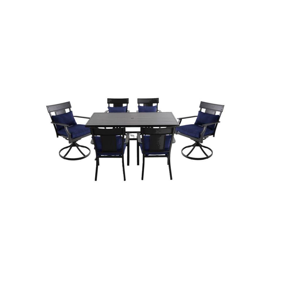 Coopersmith Steel 7 Piece Dining Set - Navy