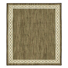 Sparrow Major Brown/ Bone White 8 ft. x 8 ft. Square Indoor Area Rug