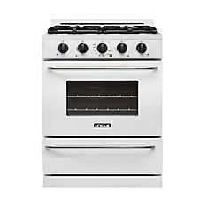 30-inch 3 9 cu  Ft  Propane Off-Grid Range with Battery Ignition Sealed  Burners in White