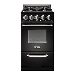 Unique Classic 20-inch 2.4 cu. Ft. Propane Off-Grid Range with Battery Ignition Sealed Burners in Black
