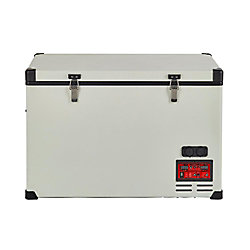 Unique 2.8 cu. ft. 80L Solar 12V/24V DC or 110V AC Portable Refrigerator-Freezer in White