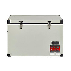 2.8 cu. ft. 80L Solar 12V/24V DC or 110V AC Portable Refrigerator-Freezer in White