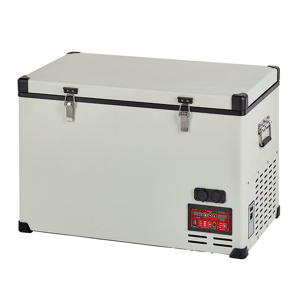 2 3 cu  ft  65L Solar 12V/24V DC or 110V AC Portable Refrigerator-Freezer  in White