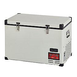 Unique 2.3 cu. ft. 65L Solar 12V/24V DC or 110V AC Portable Refrigerator-Freezer in White