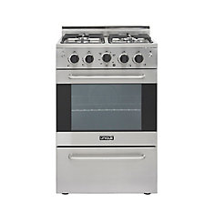 24-inch 2.3 cu. ft. Gas Convection Range Sealed Burners  in Stainless Steel