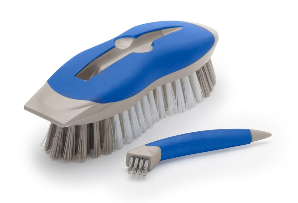 Quickie 2 in 1 Bar Scrub Brush with Detail Tool