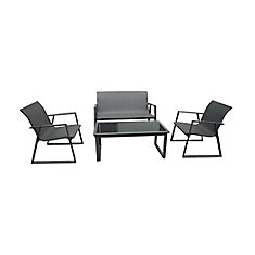 Steelville 4-Piece Patio Chat Set