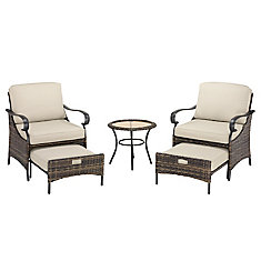 James Creek 5-Piece Outdoor Patio Seating Set with Olefin Cushions