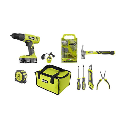 18V One+ Home Owner Starter Kit w/ 18V Drill/Driver & 18V Battery