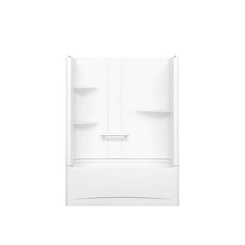 Camelia 60 inch x 32 inch x 79 inch 2-piece Acrylic Tub and Shower with Left Drain in White