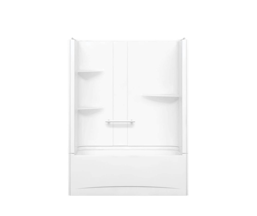 MAAX Camelia 60 inch x 32 inch x 79 inch 2-piece Acrylic Tub and Shower with Left Drain in White