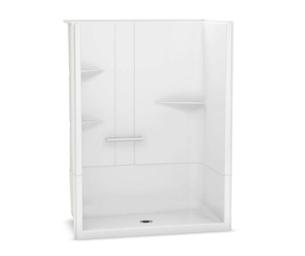 MAAX Camelia 60 inch x 34 inch x 79 inch 2-Piece Acrylic Shower with Center Drain