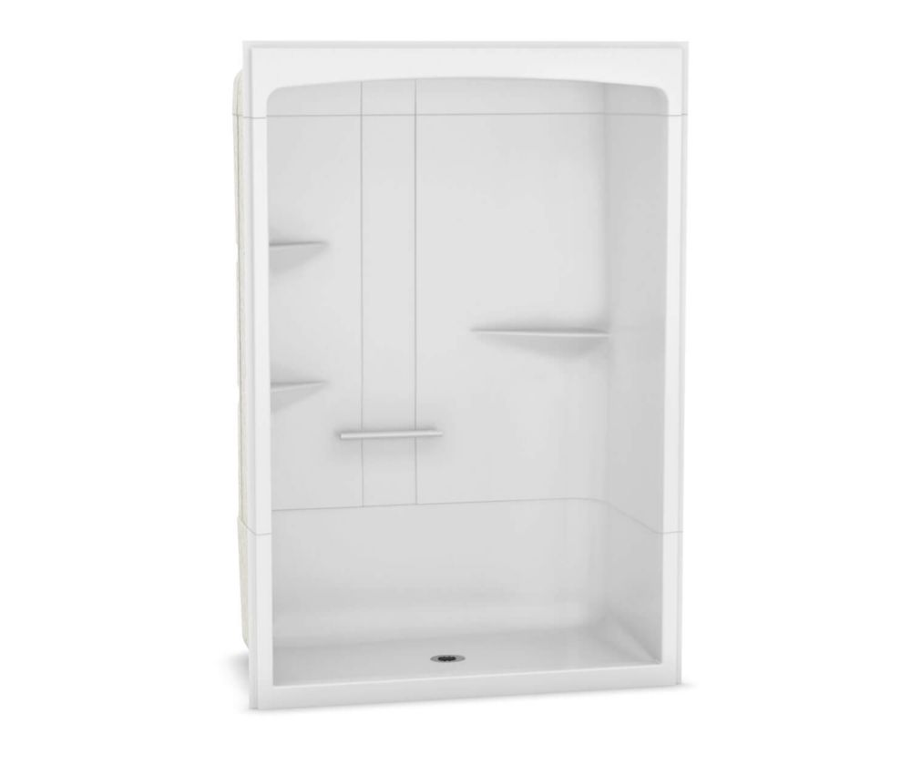 MAAX Camelia 60 inch x 34 inch x 88 inch 3-piece Acrylic Shower with Center Drain