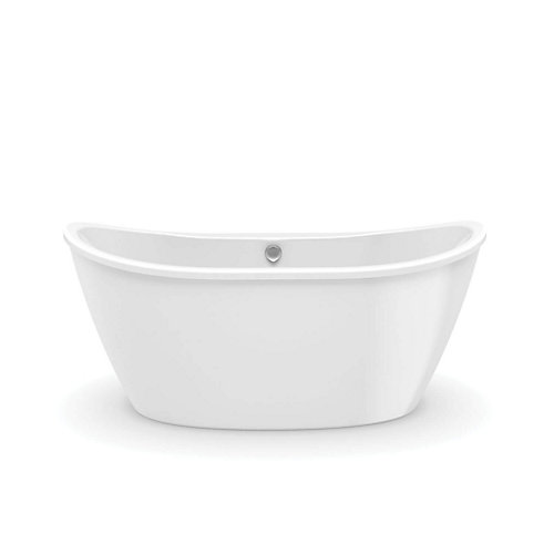Delsia 5 ft. Fiberglass 2-piece Freestanding Bathtub in White