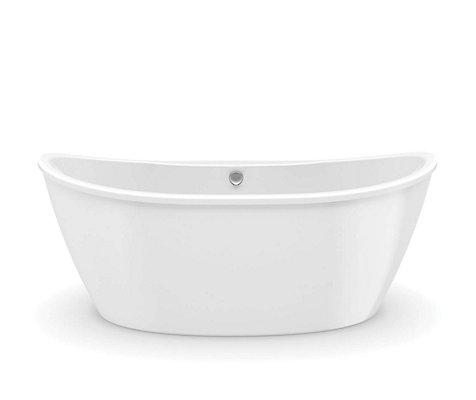 MAAX Delsia 5.5 ft. Fiberglass 2-piece Freestanding Bathtub in White ...