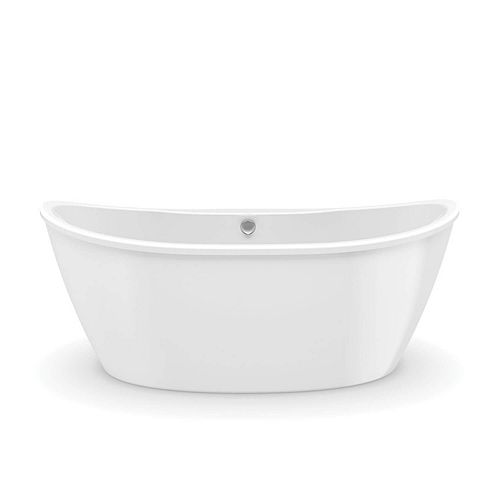 MAAX Delsia 5.5 ft. Fiberglass 2-piece Freestanding Bathtub in White