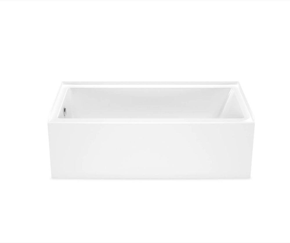 MAAX Bosca 60 inch x 30 inch Rectangular Alcove Bathtub with Left Drain in White