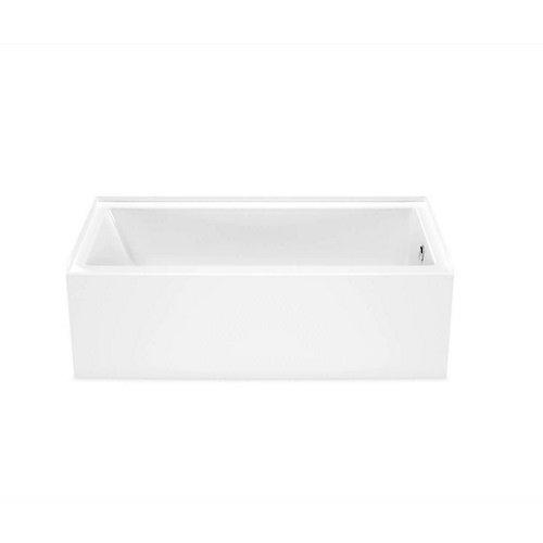 Baignoire en alcôve rectangulaire Bosca, drain à droite, 60 x 30po, blanche