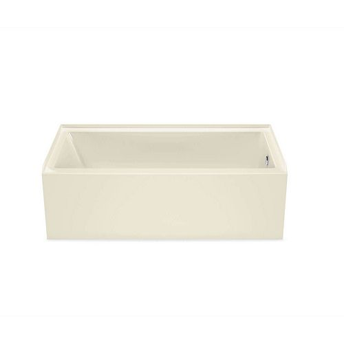MAAX Bosca 60 inch x 30 inch Rectangular Alcove AFR Bathtub with Right Drain in Bone