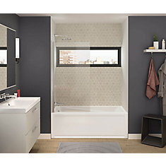 Axial 30 inch x 55.5 Frameless Fixed Tub Door in Chrome