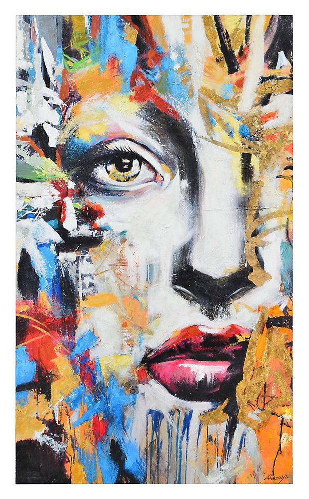 60-inch x 36-inch Ara by K. Sizaya Unframed Hand Painted Canvas Wall Art