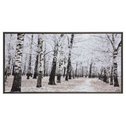 Notre Dame Design 32-inch x 63-inch Woodland by Patrick Framed Printed Canvas Wall Art