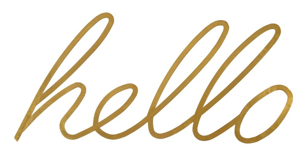 Renwil 24-inch x 51-inch Metal Hello Wall Art