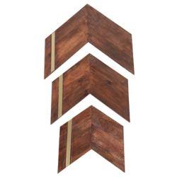 Notre Dame Design 23-inch x 24-inch Mango Wood and Iron Nolan Wall Art (3-Piece)
